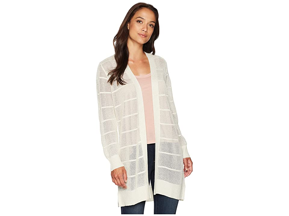 Calvin Klein Long Sleeve Lurex Cardigan (Soft White) Women