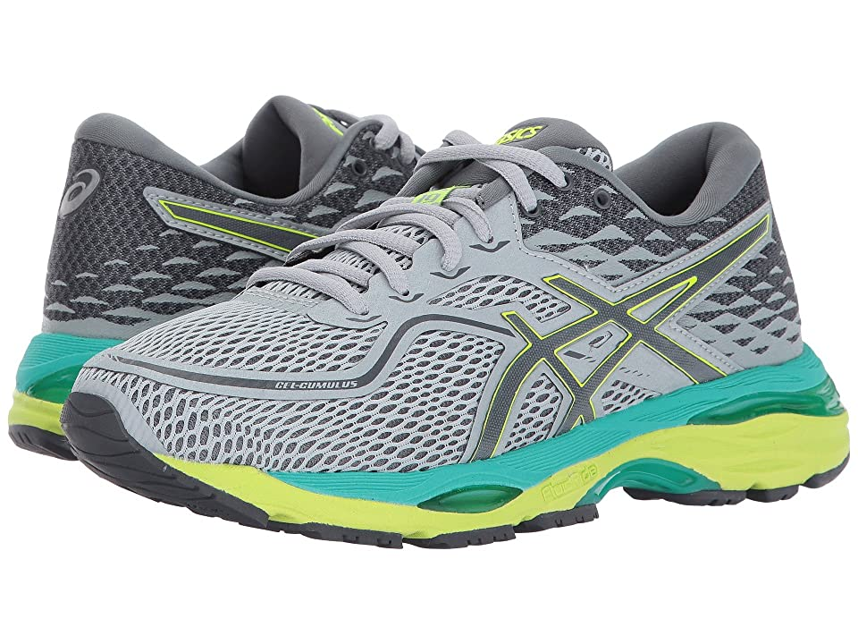 ASICS GEL-Cumulus(r) 19 (Mid Grey/Carbon/Safety Yellow) Women