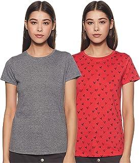 ABOF Women's Regular Fit T-Shirt (Pack of 2)