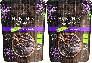 Hunter's Gourmet Organic Chia Seeds, 300 gm, Pack of 2