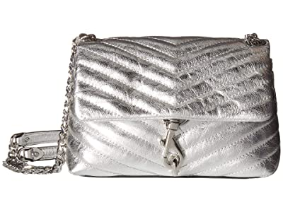 Rebecca Minkoff Edie Crossbody (Silver) Cross Body Handbags