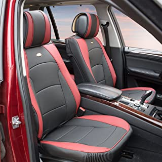FH Group PU205BURGUNDY102 Burgundy Ultra Comfort Leatherette Front Seat Cushion (Airbag Compatible)