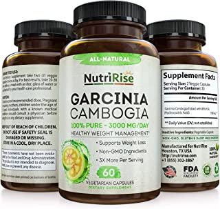 Garcinia Cambogia 3000 MG Supplement - 60 Capsules