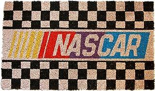 "Pyramid America Sports Nascar Logo Checkerboard Coir Doormat - 29"" x 17"" Indoor/Outdoor Entry Mat with Non-Skid PVC Back -..."