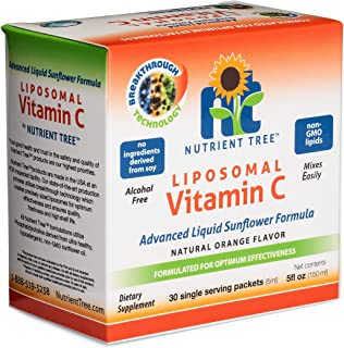 Nutrient Tree Liposomal Vitamin C - 5ml, 30 Packets | 1,000 mg Vitamin C Per Packet | Liposome Encapsulated for Maximum Bi...