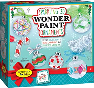 Creativity For Kids Sparkling 3D Wonder Paint Kit - Make Your Own Holiday Ornaments - Ornaments For Kids