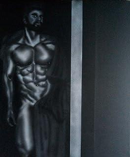 Nude male Erect Big Art 50x59cm Original Painting thick penis balls gay LGBT testicles male nudes paintings homoerotic men...