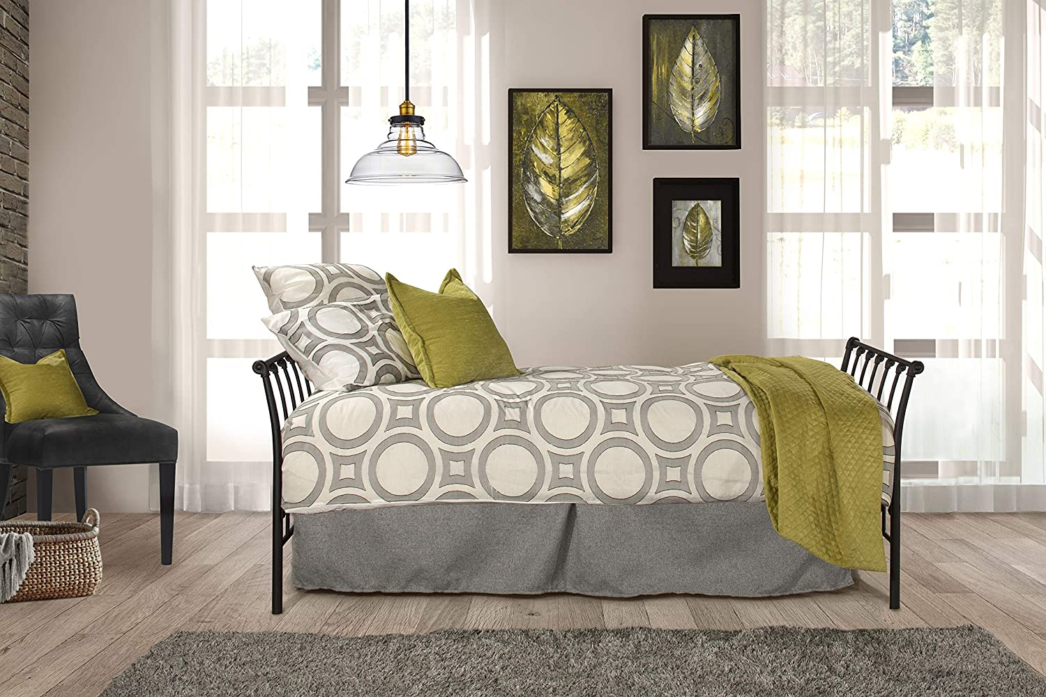 Hillsdale Midland Metal Backless Daybed Twin Black Ranking TOP19 Sparkle 55% OFF
