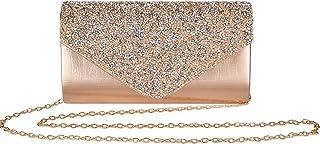 Clutch Purses for Women Evening Bag Cross Body Bridal Party Envelope Handbags