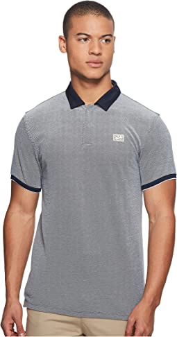 Scotch & Soda - Chic Ams Blauw Polo with Woven Collar