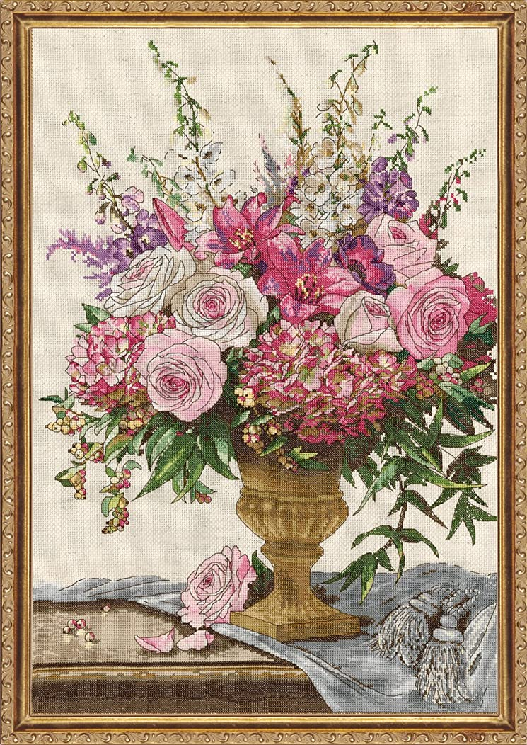 Design Works Crafts 2847 Symphony Bouquet Counted Cross Stitch Kit, 15 by 22