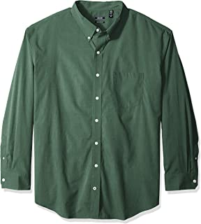 IZOD Men's Big and Tall Button Down Long Sleeve Stretch Performance Solid Shirt