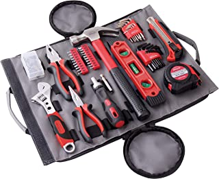 APOLLO TOOLS 91 Piece Rollup Tool Set. Easy to Store and Transport Tool Set for Household Repairs, Car Emergency, Crafts and DIY Tasks - DT4945