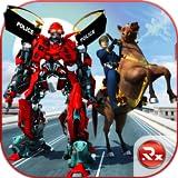 Transformación del caballo robot de la policía estadounidense: juegos de lucha policial
