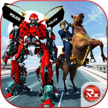 US Police Robot Horse Transformation  Police Fighting Games