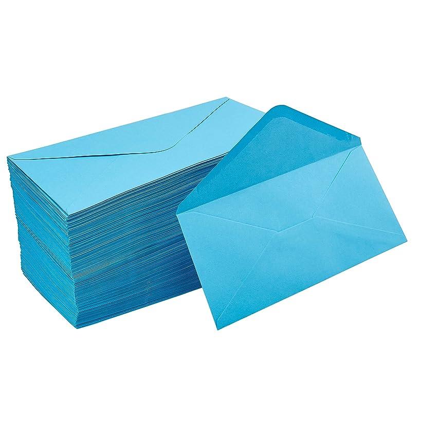 Business Envelopes - 200-Pack #10 Envelopes, Standard V-Flap Envelopes for Holiday, Office, Checks, Invoices, Letters, Mailings, Windowless Design, Gummed Seal, Aqua Blue, 4-1/8 x 9-1/2 Inches