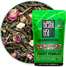 Tiesta Tea Fruity Pebbles, Strawberry Pineapple Green Tea, 1 Pound Bag, Medium Caffeine, Loose Leaf Green Tea Slenderizer Blend, 200 Servings , 16 Ounce (Pack of 1)