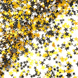 Black Gold Party Twinkle Stars Table Confetti - Glitter Sequins Confetti Bachelorette Wedding Bridal Shower Baby Shower Birthday Graduation Party Sprinkles Decorations, 60g