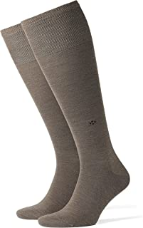 Burlington Mens Leeds Knee High Socks - Pebble Brown