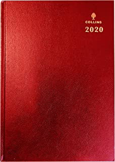 Collins Desk - 2020 Diary - A5 Week to View - Red