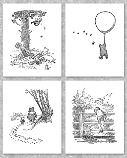 Best winnie the pooh black and white print Reviews