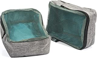 Bably Baby Packing Cubes, Set of 2, Diaper Bag Organizer, Perfect for Clothes, Snacks, Bibs, etc (Polyester) c. (P