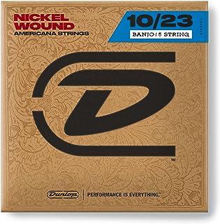 Dunlop DJN1023 Nickel Medium Banjo Strings (Pack of 5)