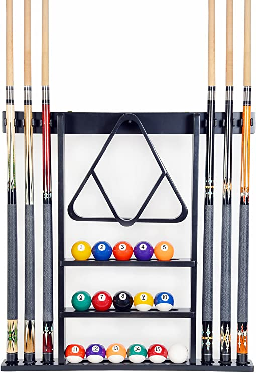 4 x Pool Snooker Billiard Cue Pool Table Chalk Holder Black /& Cord