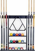 CLAUKING Clouking Snooker Halterung f/ür Billards aus Holz und Edelstahl mit Aschenbecher 8 Queues