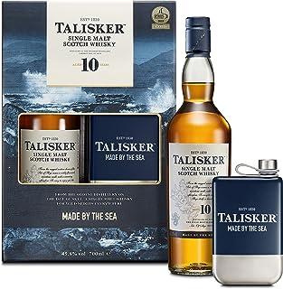 Talisker 10 Jahre, Geschenkpackung mit Flachmann Single Malt Whisky 1 x 0.7 l
