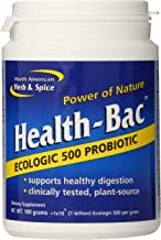 North American Herb and Spice, Health-Bac, Ecologic 500 Probiotic, 100-Grams