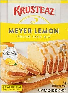 Krusteaz Meyer Lemon Pound Cake Mix with Lemon Glaze (16.5 Ounce (Pack of 2))