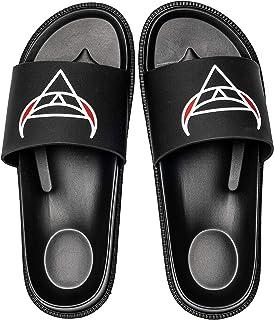 UKUGIJIMA Men's Lightweight Slide Sandal Athletic Comfort Non-Slip Mens Sliders Summer Beach Pool Slippers Trainers Shoes
