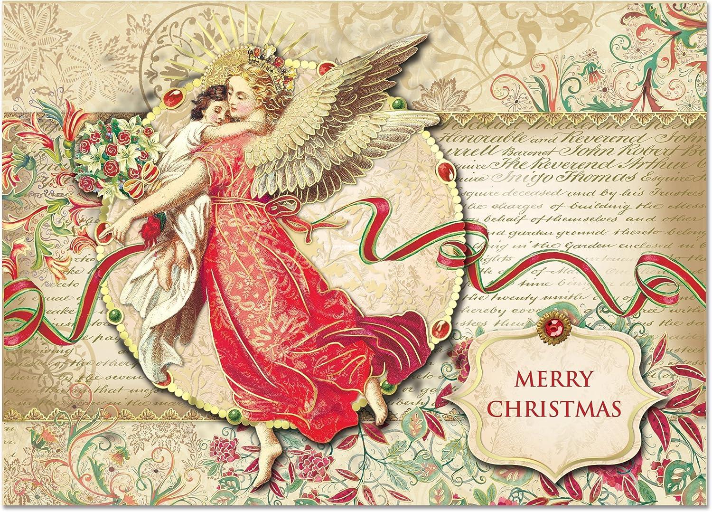 Punch Studio Weihnachten Weihnachten Weihnachten 3D Grußkarten Engel und kind mit Gold Folie Verschönerungen, Set von 12 B00EV5FO7E | Verrückter Preis, Birmingham  ab1b33