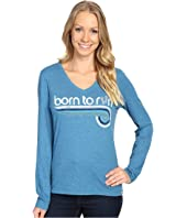 Life is Good - Born To Run Sneakers Long Sleeve Cool Vee