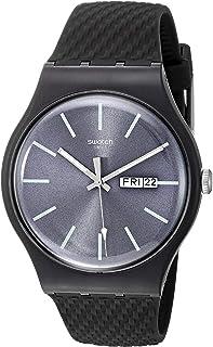 Swatch 1907 BAU Quartz Silicone Strap, Grey, 20 Casual Watch (Model: SUOM708)