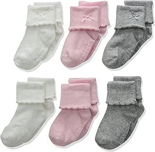 Carter's Baby Girl Folded Cuff Socks (6 Pack)