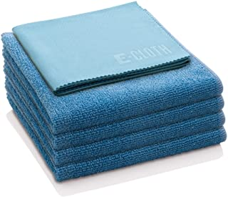 Sponsored Ad - E-Cloth Starter Pack, Microfiber Cleaning Cloths, 5 Cloth Set, Alaskan Blue