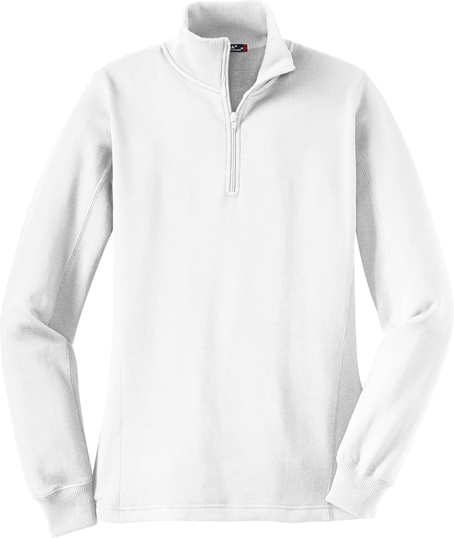Sport-Tek Ladies 1 4-Zip Sweatshirt. LST253 Weiß M