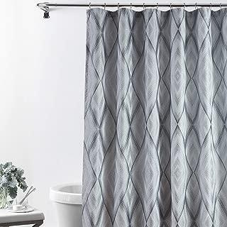 Croscill Echo XL Shower Curtain 72x84, Slate Grey