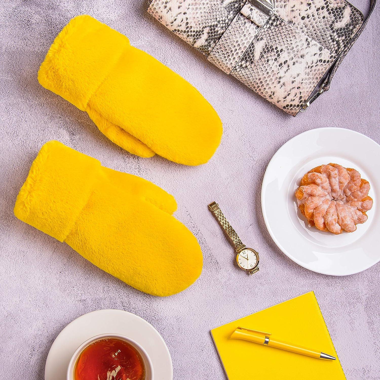 Futrzane Faux Fur Winter Gloves for Women - Very Soft Rabbit Fur Lined Mittens