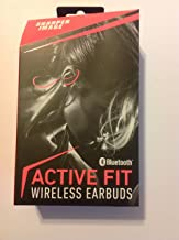 Sharper Image SBT528OR Bluetooth Active Fit Wireless Earbuds with Microphone, Volume Control, Orange