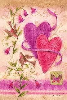 Toland Home Garden Love Birds 12.5 x 18 Inch Decorative Valentine Heart Spring Flower Bird Garden Flag