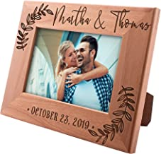 UnitedCraftSupplies Personalized Wedding Picture Frame w/Name and Date, 4x6, 5x7, 8x10 - Romantic Wedding Gifts for The Couple, Custom Wedding Photo Frame, Engagement, Valentine's Day #5