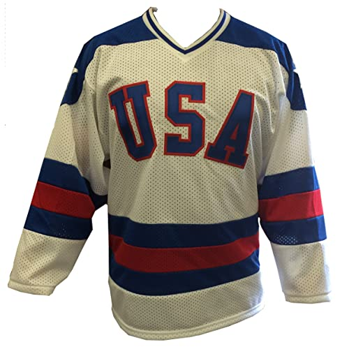 ce2806064 White Home 1980 USA Olympic Hockey Replica Game Mesh Jersey Miracle on Ice  Adult (Extra