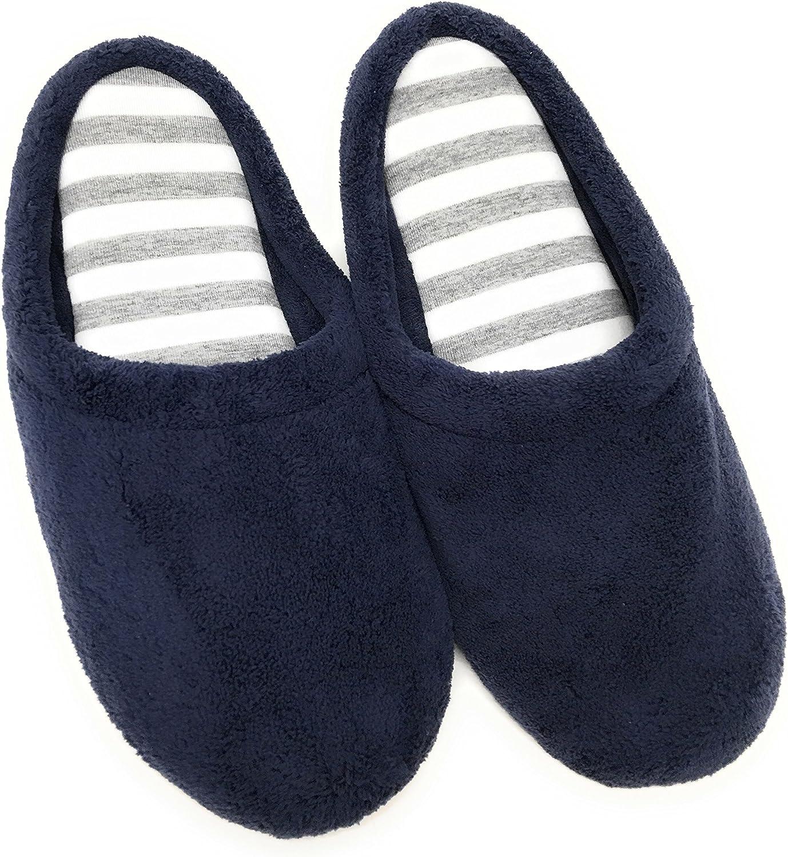 Dearfoams Womens Peacoat Scuff Slippers - (Large 9-10) bluee