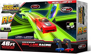 Max Traxxx R/C Award Winning High Speed Remote Control Infinity Loop Track Set with Two Cars for Dual Racing