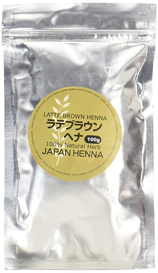 チキン化石それからジャパンヘナ ラテブラウントリートメント 100g