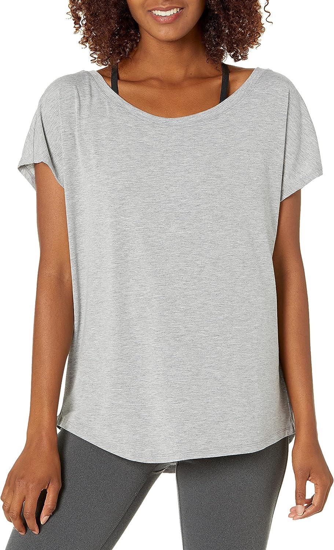 Amazon Essentials Women's Studio Open-Back Short-Sleeve T-Shirt