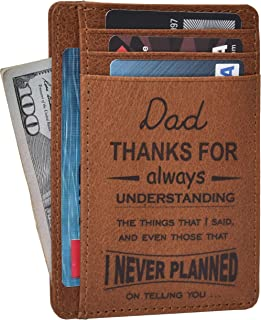 Custom Wallets for Men - Brown Leather Wallet, Personalized Father's Day Gift